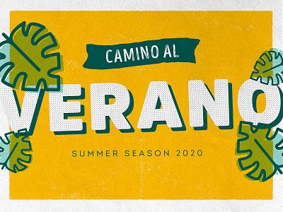 summer vibe plant illustration illustration graphic design design art colorful grunge typographic plants green season summertime yellow summer
