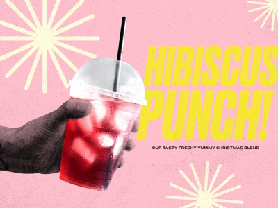hibiscus punch! texture red cold ice drink blend tea stars christmas pink