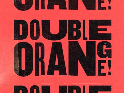 double dada press experimental type grunge logo