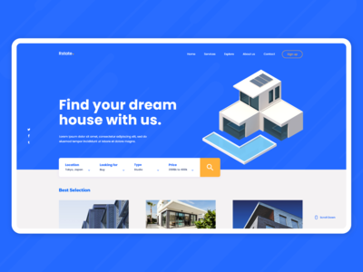 Real Estate - Web Concept