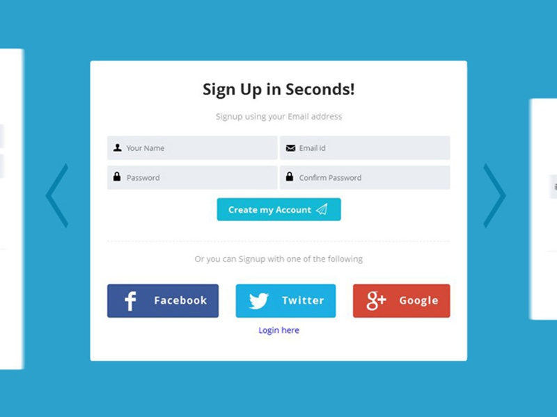 Flat UI Login Form (HTML/CSS) by Akash Bhadange - Dribbble
