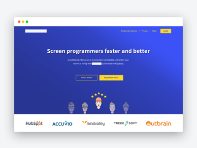 Hero Section designerdada ui web design website sales website landing page hero section