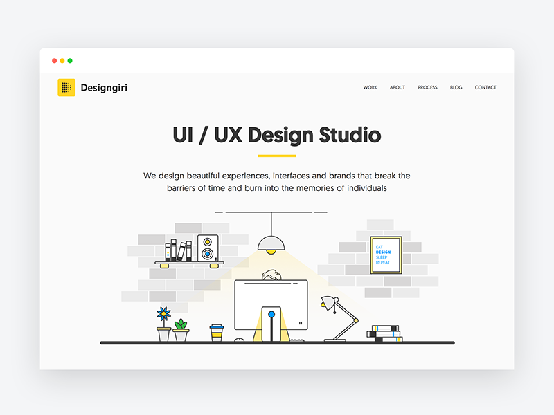 Designgiri Ui Ux Design Studio Website Landing Page Portfolio Ilration Freelancer