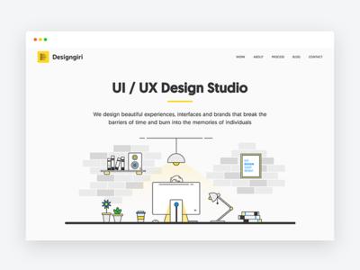 Designgiri - UI/UX Design Studio Website landing page portfolio illustration freelancer design studio website user interface ux ui