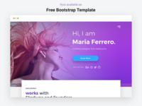 Free Bootstrap Template - Portfolio Landing Page
