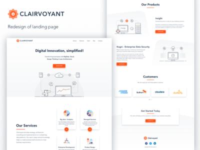 Clairvoyant: Landing Page ui web design website sales website landing page hero section monitor server storage analytics big data illustration