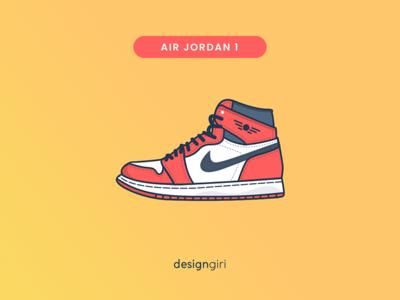 Air Jordan 1 illustration shoe basketball series air jordan sneaker