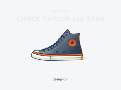 Converse All Star chuck taylor all star illustration shoe basketball series converse sneaker