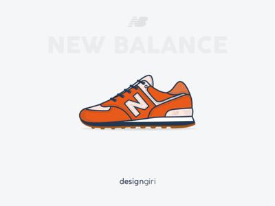 New Balance 574 illustration shoe basketball series new balance sneaker