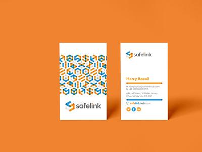 Safety, intelligence & efficiency secure platform brand website design stationery safelink
