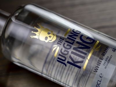 Lifting our spirits channel islands guernsey packaging spirits label design rum the juggling king white rum