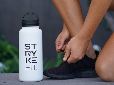 Fit for purpose logo design brand stryke fit strykefit activewear