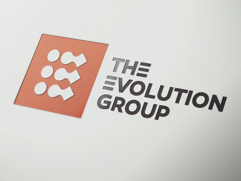Evolving The Evolution project management the evolution group typography website design logo design brand design