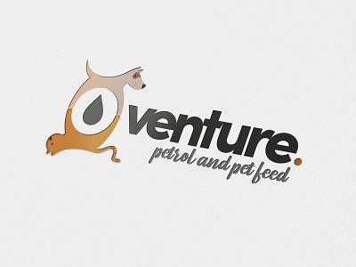 Venture Petrol & Pet Feed the potting shed vector typography logo design illustration brand design