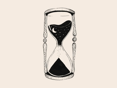 Inktober 2018: Time is a gift fineliner liner tattoo design tattoo art night gift inktober2018 inktober sand time clock