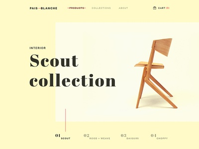 Pais Blanche - Landing Page store interior ecommerce desk sofa chair furniture landing logo typography layout web