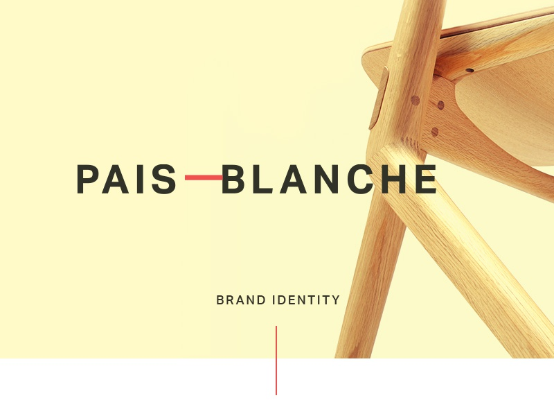 Pais Blanche Branding / Identity furniture product page homepage business cards brand logo design corporate identity mockup identity logo typography branding