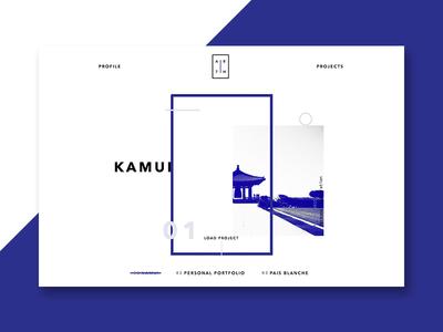 Personal Portfolio resume web simplistic minimal portfolio typography personal homepage