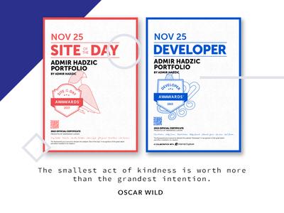 DEVAWARD + SOTDA web ui ux portfolio site of the day awwwards awards