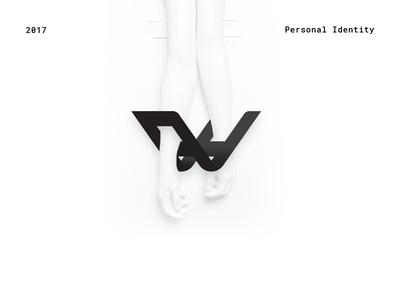 Personal Identity - Teaser black and white personal self promo case study typography monogram logotype logo brand portfolio identity branding