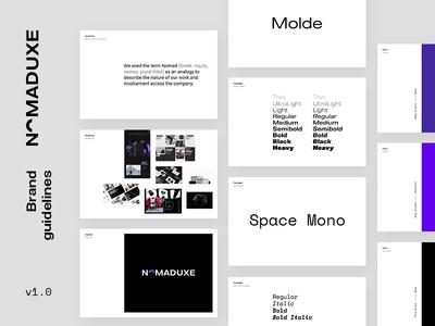 NomadUXE — Brand Guidelines google design identity design guide brand overview brand guide style guide branding logotype logo guidelines brand book brand