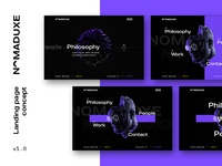 NomadUXE — Landing Page Concepts