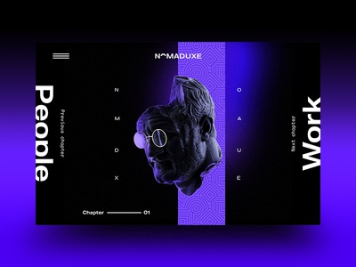 NomadUXE — Landing v2.01 dark minimal gradient interaction interface hero landing webgl brutalist design brutalism web design web