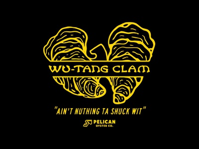 Wu-Tang Clam clam rip wutangclan illustration puns oysters