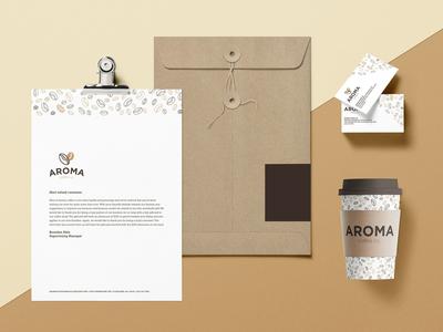 Aroma Coffee Branding