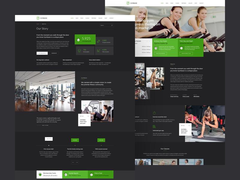 Gymbase - Gym Fitness WordPress Theme training fitness club trainer sport boxing crossfit fitness center fitness gym theme wordpress