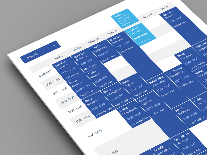 Timetable by QuanticaLabs - Dribbble