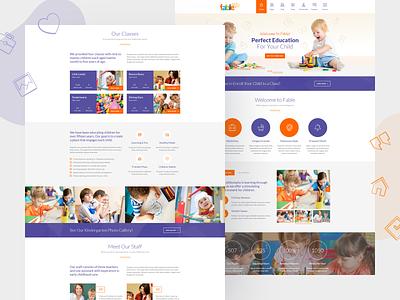 Fable - Children Kindergarten WordPress Theme course kids teacher school preschool nursery kindergarten education children baby child wordpress theme theme wordpress