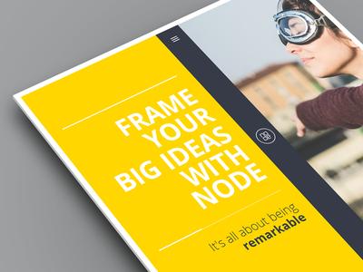 Node - Portfolio Template template portfolio bold yellow minimalistic sliding creative responsive