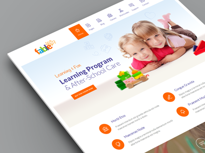 Fable - Children Kindergarten WordPress Theme kindergarten nursery school kids child children colorful care responsive wordpress theme flat