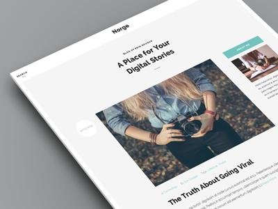 Norge - Blog WordPress Theme blog personal responsive retina wordpress theme flat minimal minimalist blogger simple elegant