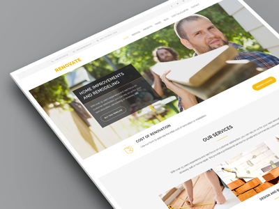 Renovate - Construction Renovation WordPress Theme corporate company plumber worker handyman electrician contractor responsive template remodeling renovation construction