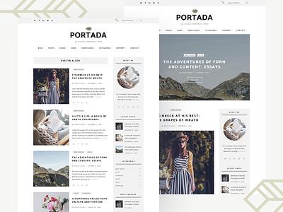 Portada - Elegant Blog WordPress Theme wordpress theme blog lifestyle fashion magazine blogger feminine female elegant