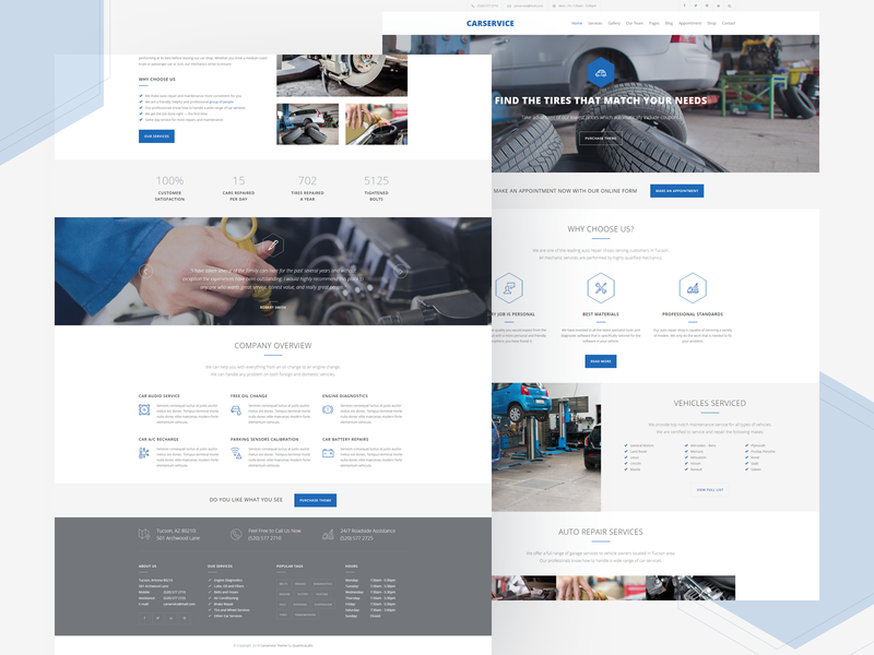 Car Service - Mechanic Auto Shop WordPress Theme handyman serviceman garage motor mechanic service auto car theme wordpress
