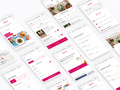 Foodora mWeb product design uiux