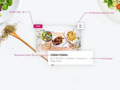 Foodora Restaurant Component foodora product design uxui