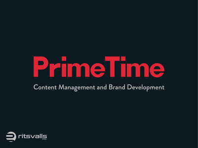 Prime Time Logo Design vector prime time typography icon identity design mark branding logo