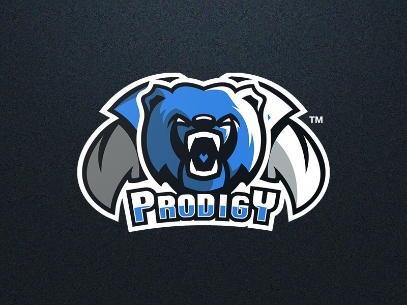 Bear Esport Mascot Logo bear logo blue bear mark branding esport mascot logo bear mascot logo bear design esport logo mascot logo