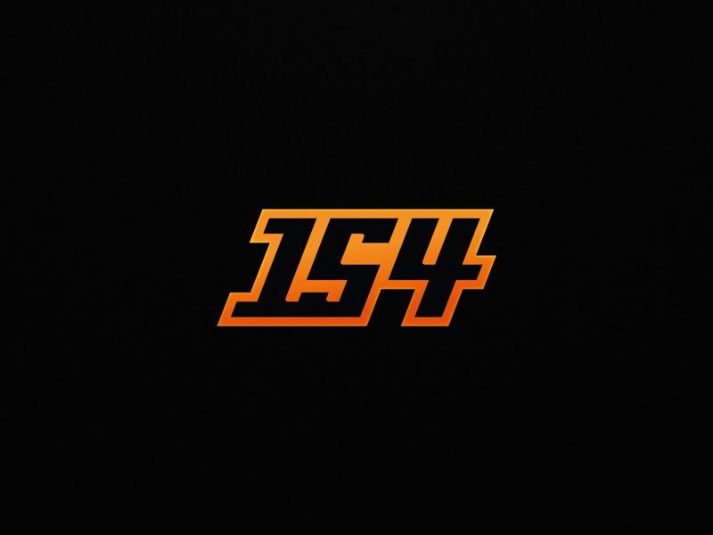 154 Branding youtube esport number logo numbers 154 logo mark branding logo 154