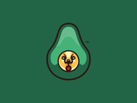 Avocado Cat Esport Mascot Logo
