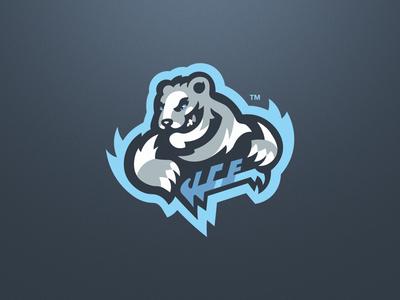 Polar Bear Esport Mascot Logo