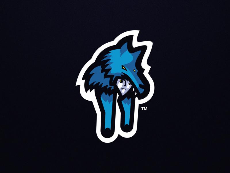 Primal Hunter Esport Mascot Logo branding logo wolf primal hunter wolf logo mascot logo primal hunter logo
