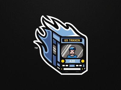 Tram Mascot Logo