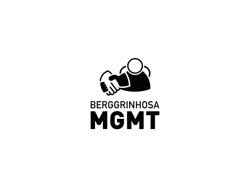 Bergginhosa Management people handshake clean simplicity icon mark design logo