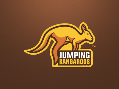 Kangaroo Mascot Logo