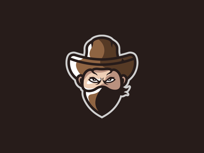 Cowboy Mascot Logo cowboy logo cowboy mascot logo illustration illustrator sports logo mark identity esport mascot logo logo